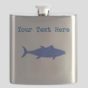 Distressed Blue Tuna Fish (Custom) Flask