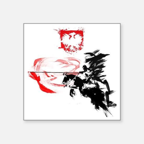 "Polish Hussar Square Sticker 3"" x 3"""