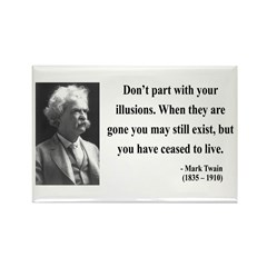 Mark Twain 10 Rectangle Magnet (100 pack)