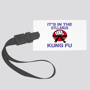 It's in the Syllabus Kung Fu Large Luggage Tag