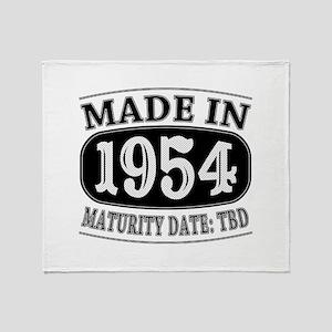 Made in 1954 - Maturity Date TDB Throw Blanket