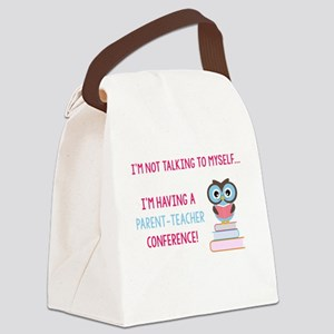 Parent-Teacher Conference Canvas Lunch Bag