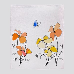 California Poppies Throw Blanket