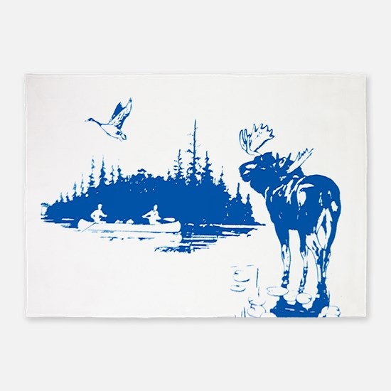 Moose Bay Canoe 5'x7'Area Rug
