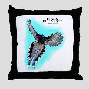 Taiwan Blue Magpie Throw Pillow