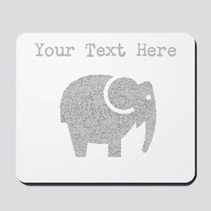 Distressed Grey Cartoon Elephant (Custom) Mousepad