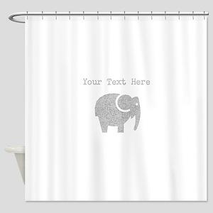 Distressed Grey Cartoon Elephant (Custom) Shower C