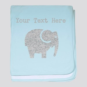 Distressed Grey Cartoon Elephant (Custom) baby bla
