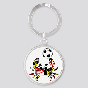 Maryland Crab With Soccer Ball Keychains