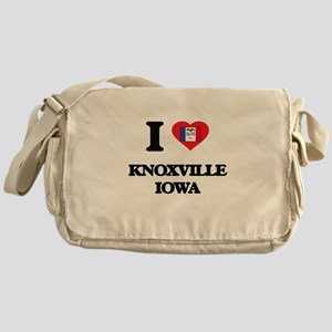 I love Knoxville Iowa Messenger Bag