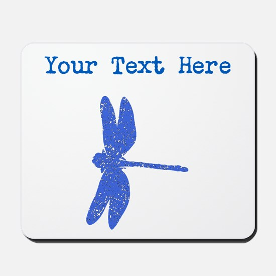 Distressed Blue Dragonfly (Custom) Mousepad