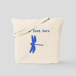 Distressed Blue Dragonfly (Custom) Tote Bag