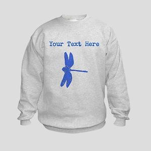 Distressed Blue Dragonfly (Custom) Sweatshirt