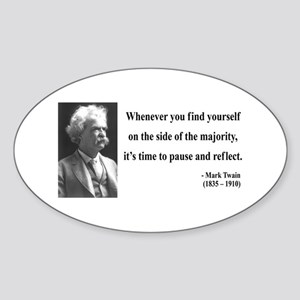 Mark Twain 11 Oval Sticker