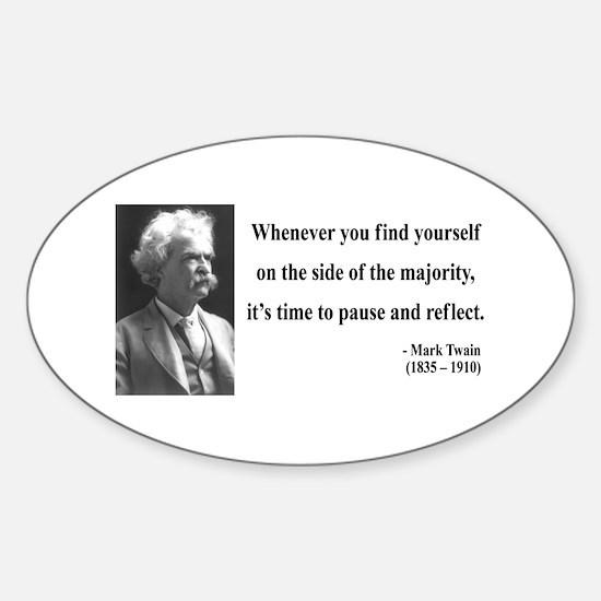 Mark Twain 11 Oval Decal