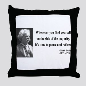 Mark Twain 11 Throw Pillow