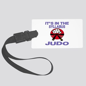 It's in the Syllabus Judo Large Luggage Tag