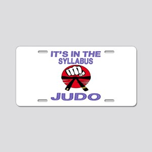 It's in the Syllabus Judo Aluminum License Plate