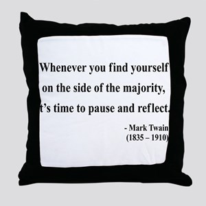 Mark Twain 11 Throw Pillow