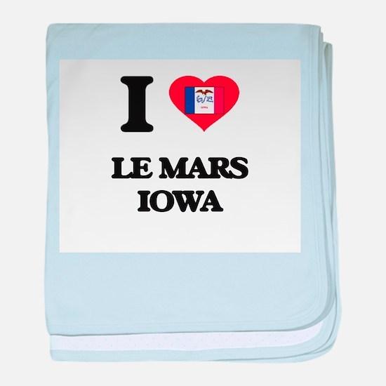 I love Le Mars Iowa baby blanket