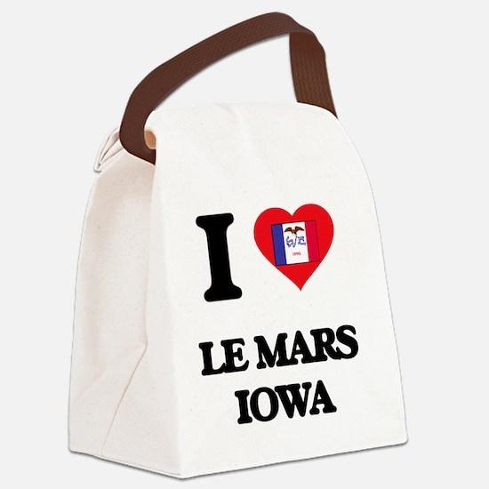 I love Le Mars Iowa Canvas Lunch Bag