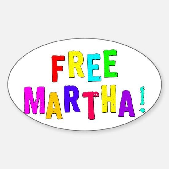 Free Martha! Oval Decal