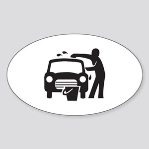 Carwash Oval Sticker