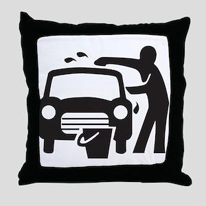 Carwash Throw Pillow