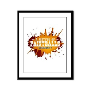 A Fistful of Paintballs Framed Panel Print