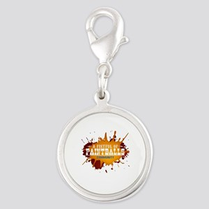 A Fistful of Paintballs Silver Round Charm