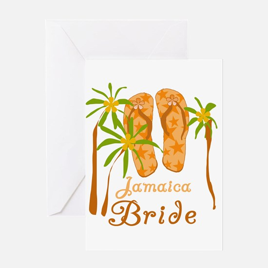 Tropical Jamaica Bride Greeting Card