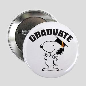 """Snoopy Graduate 2.25"""" Button"""