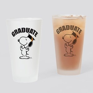 Snoopy Graduate Drinking Glass