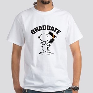 Snoopy Graduate White T-Shirt