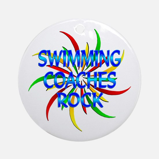 Swimming Coaches Rock Ornament (Round)
