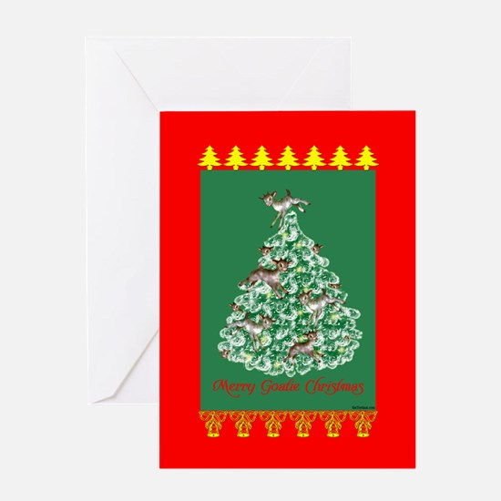 Merry Goatie Christmas Greeting Card