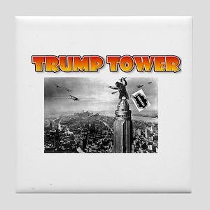 KING KONG - TRUMP TOWER - PARODY Tile Coaster