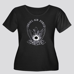 IAF Black Women's Plus Size Scoop Neck Dark Tee