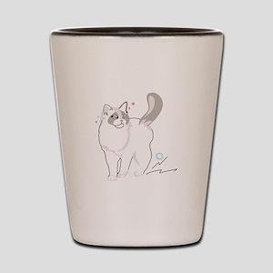 Ragdoll cat Shot Glass
