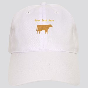 Distressed Brown Cow (Custom) Baseball Cap