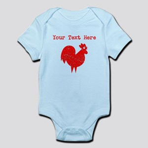 Distressed Red Rooster (Custom) Body Suit