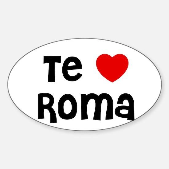Te * Roma Oval Decal