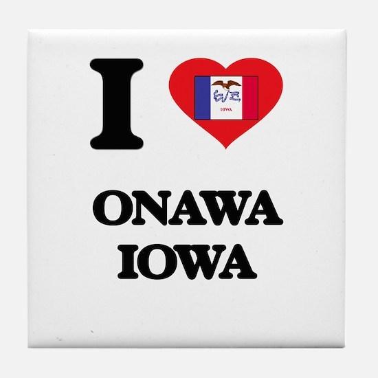 Cute Iowa hawkeyes Tile Coaster