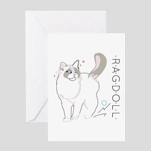Ragdoll cat Greeting Cards