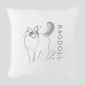Ragdoll cat Woven Throw Pillow