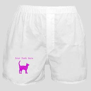 Distressed Pink Cat (Custom) Boxer Shorts