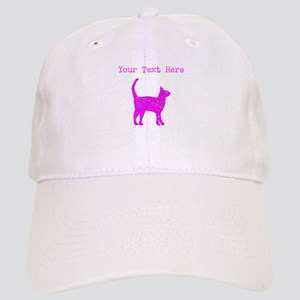 Distressed Pink Cat (Custom) Baseball Cap
