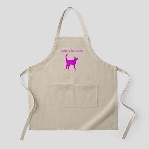 Distressed Pink Cat (Custom) Apron