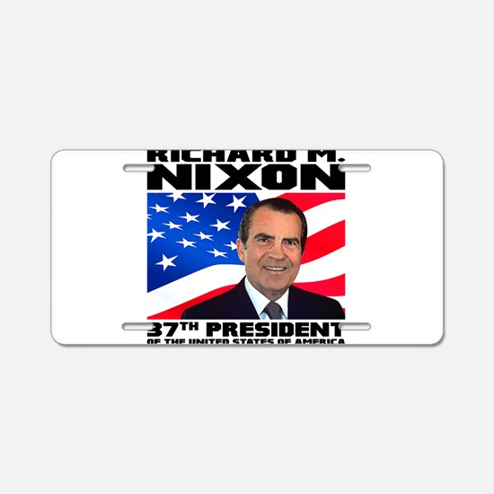 37 Nixon Aluminum License Plate