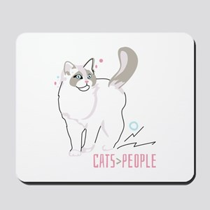 Ragdoll cats are greater than people Mousepad